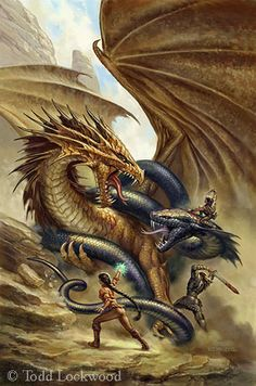 Serpent and Dragon   The Art of Todd Lockwood