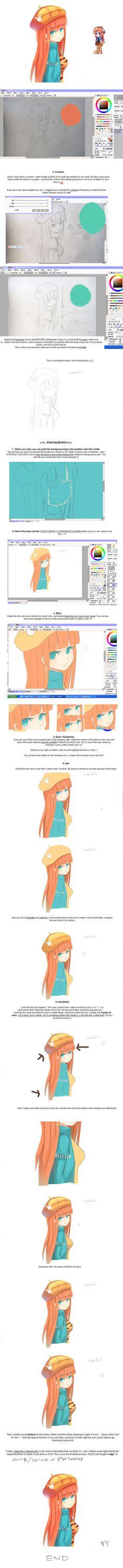 Simple Anime Girl Tutorial by PolkaDotedFlower.deviantart.com on @deviantART