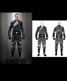 Starkiller flightsuit concept. (Force Unleashed II)