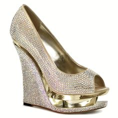 Shop Women's Gold size Various Wedges at a discounted price at Poshmark. Description: Rhinestone Covered Peep Toe Wedge Platform Shoes Sold by thepinupshop. Satin Shoes, Bling Shoes, Prom Shoes, Buy Shoes, Silver Shoes, Dress Shoes, Peep Toe Wedges, Peep Toe Pumps, Wedge Shoes