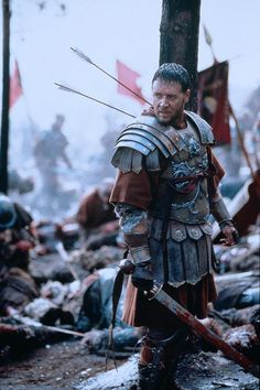 Russell Crowe as Maximus Decimus Meridius in Gladiator . Russell Crowe Gladiator, Film Mythique, Ridley Scott, Film Serie, God Bless America, Great Movies, Awesome Movies, Movies And Tv Shows, Captain America