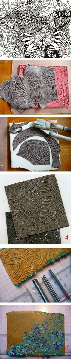Joan Tayler Design: How to make a Texture Sheet from a Larger Stamp  #DIY…