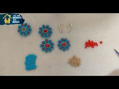 Aretes Floresita en Mostacillas y Cristales - YouTube Beading Patterns Free, Beaded Jewelry Patterns, Beading Tutorials, Beaded Earrings, Stud Earrings, Creative Embroidery, Bracelet Crafts, Earring Tutorial, Bead Jewellery