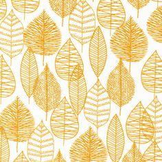 Line Leaf | Gold from Bark, Cloud9 Fabrics