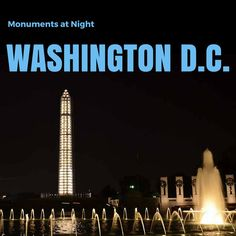 My favorite time of day to see the monuments is when the crowds die down and it cools off.  Washington D.C. Monuments at Night | tipsforfamilytrips.com
