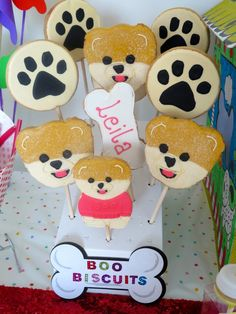 Boo biscuits doggy party