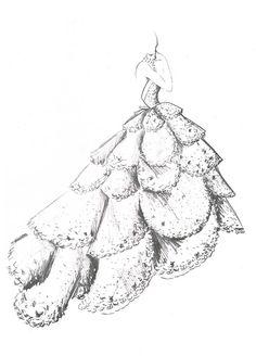 Винтажные эскизы Dior