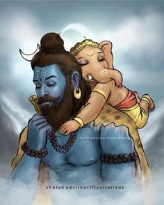 Shiva Parvati Images, Shiva Hindu, Shiva Art, Ganesha Art, Hindu Art, Shri Ganesh, Krishna Radha, Hindu Deities, Hinduism