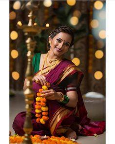 Image may contain: 1 person Kashta Saree, Saree Poses, Sarees, Marathi Saree, Marathi Bride, Saree Photoshoot, Wedding Photoshoot, Beautiful Saree, Beautiful Indian Actress