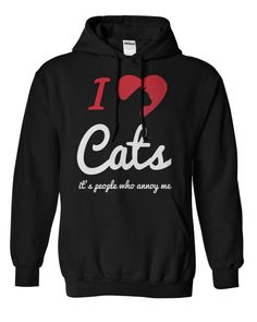 I Love Cats It's People Who Annoy Me Hoodie 1