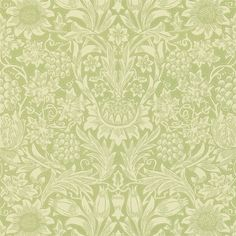 The Original Morris & Co - Arts and crafts, fabrics and wallpaper designs by William Morris & Company | Products | British/UK Fabrics and Wallpapers | Sunflower (DMCW210477) | Morris Wallpaper Compendium II