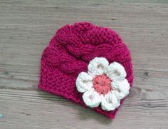 Baby Girl Hat Photo Prop Hat Newborn Girl Hat fuchsia by Ifonka, $17.00