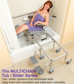 Roll-in, Tub Slide chairs
