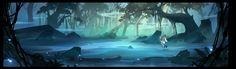 Peacock forest, · Ocean on ArtStation at https://www.artstation.com/artwork/wOb05