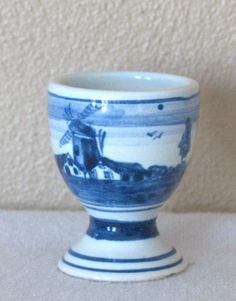 Vintage Delft Factory Egg Cup