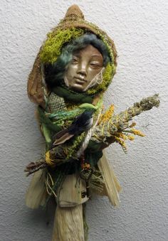 Springtime Spirit .  Assemblage Bohemian Eco by awesomeart on Etsy