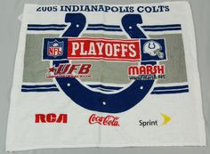2005 Indianapolis Colts vs. Pgh Steelers Playoffs Rally Towel. 1/15/2006  SGA #IndianapolisColts