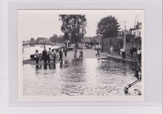 TWICKENHAM FLOODS CARD 3 C 1971 6.5 X 4.75 INS ORIGINAL PHOTO NOT A POSTCARD Richmond Upon Thames, Old London, The Originals, Cards, Map