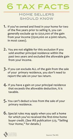 Tax Tips - Santa Monica real estate agency tax tips for home sellers to maximize gains