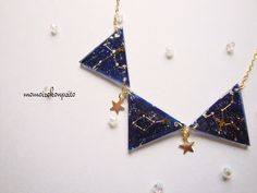 Large triangle necklace of summer