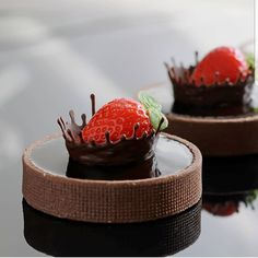 Baking desserts cakes cupcakes chocolate ganache 28 ideas for 2019 Fancy Desserts, Delicious Desserts, Mini Cakes, Cupcake Cakes, Cake Recipes, Dessert Recipes, Dessert Food, Decoration Patisserie, Patisserie Design