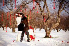 зимняя свадьба #wedding #winter #red