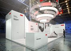 ABB on Behance Exhibition Booth Design, Exhibition Stands, Exhibit Design, Workplace Design, Stand Design, Minimalist Bedroom, Online Portfolio, Behance, Design Inspiration