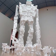 wowza! the artist recycled styrofoam and showed us what creativity is all about!