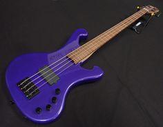 DeWitt Custom 4 String Bass Purple for Sale - Keith Holland Guitars