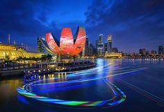 """""""iLight Marina Bay festival"""" du 7 au 30 mars 2014 à Singapour"""