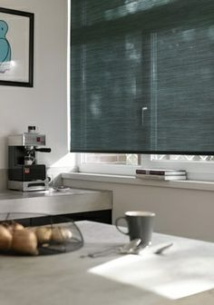 Rolgordijnen - Vuil- en vochtbestendig - Dustblock™ Window Coverings, Window Treatments, Shades Blinds, Roller Blinds, New Room, Shutters, Windows, Kitchen Ideas, Design