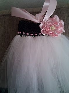 Tutu dress made with headband and tulle