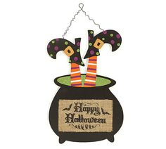 "Cauldron Hanging ""Happy Halloween"""