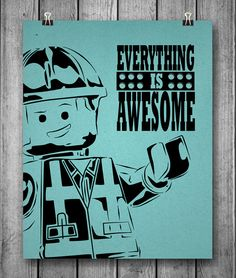 Lego Movie Unofficial Poster Everything Is AWESOME by inkofme, $15.00
