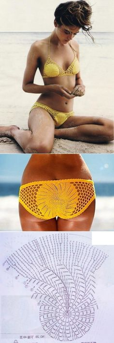 Crochet swim wear