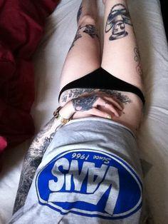 #Skater girl wearing ink and vans skateboard tee
