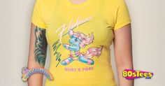 My Little Pony Flashprance T-Shirt made by 80sTees.com in collections: 80s Cartoons: My Little Pony, & Department: Adult Juniors, & Color: Yellow