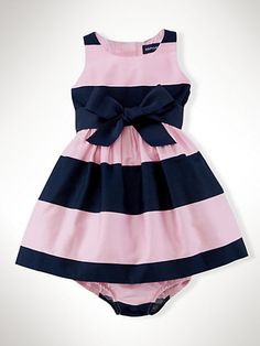 Striped Cotton Sateen Dress - Dresses & Rompers Infant Girl (9M–24M) - RalphLauren.com