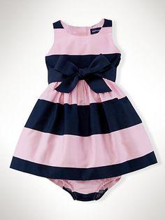 Striped Cotton Sateen Dress - Dresses & Rompers Infant Girl (9M–24M) - RalphLauren.com