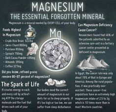 Benefits of Magnesium..soaking yourself or your feet in Epsom Salt will help with that deficiency and #MIGRAINES ❗