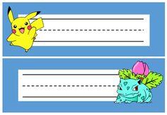 Pokemon Desk Plates / Name Tags / Tray Labels - Editable