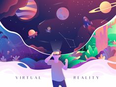 Virtual Reality designed by Fahriza. Connect with them on Dribbble; the global community for designers and creative professionals. Flat Illustration, Graphic Design Illustration, Digital Illustration, Illustrations, Logos Ideas, New Retro Wave, Arte Cyberpunk, Battlestar Galactica, First Art