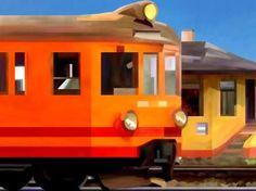 Passing Train in Orange