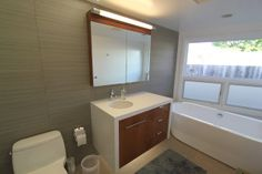 3 mid-century bathrooms remodeled | mid-century modern remodel