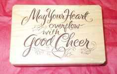 Inkadinkado May your heart overflow with good cheer rubber stamp words phrases  #Inkadinkado #Greetingswordsphrases