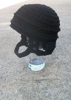 The Hockey Helmet (not a free pattern)