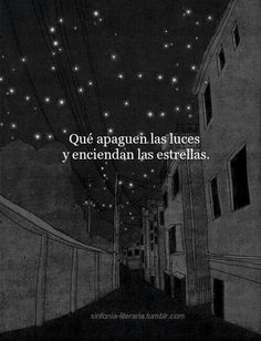 Turn off the lights and light the stars