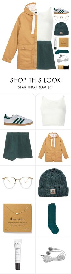 """yoo"" by symone-i ❤ liked on Polyvore featuring adidas Originals, 321, Petit Bateau, Diamond Supply Co., Dogeared, Maison Margiela and Chanel"