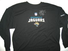 8f474d7644b Kyle Bosworth Training Worn   Signed Jacksonville Jaguars Reebok 2XL Long  Sleeve Shirt