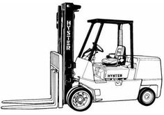 Hyster Forklift Truck Type D003: H30H, H40H, H50H, H60H